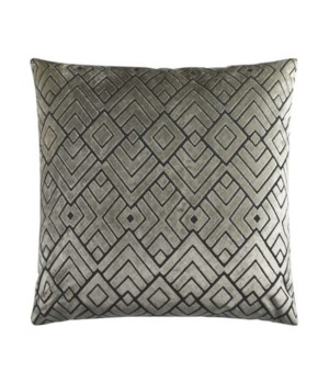 Hipster Square Silver Pillow