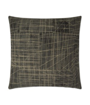 Studio Square Gunmetal Pillow