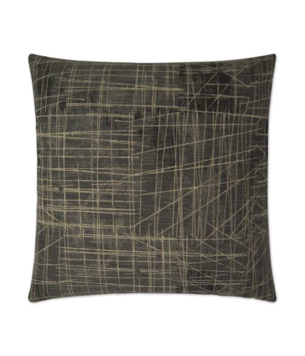 Studio Square Gunmetal Pillow