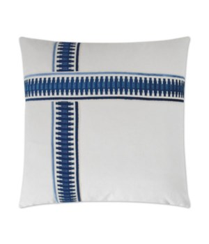 Antibes II Square Blue Pillow