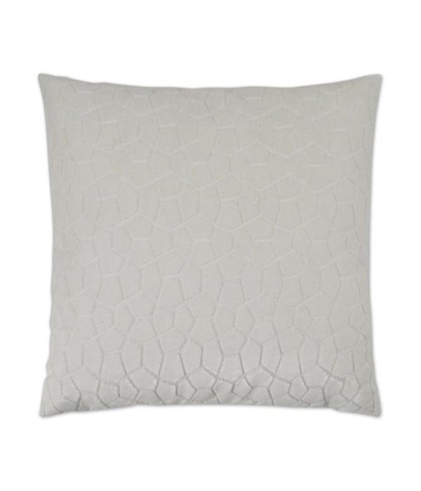 Flintstone Square White Pillow