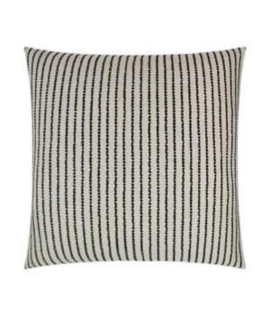 Demetria Square Black Pillow