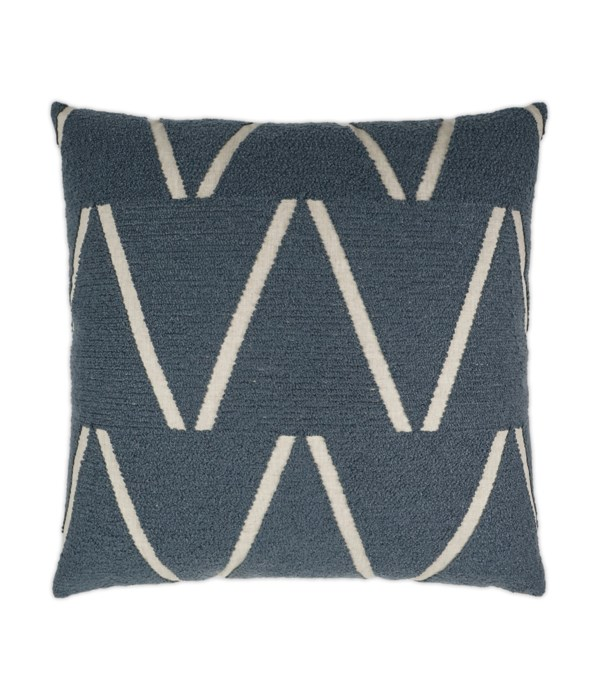 Edge of Glory Square Blue Pillow