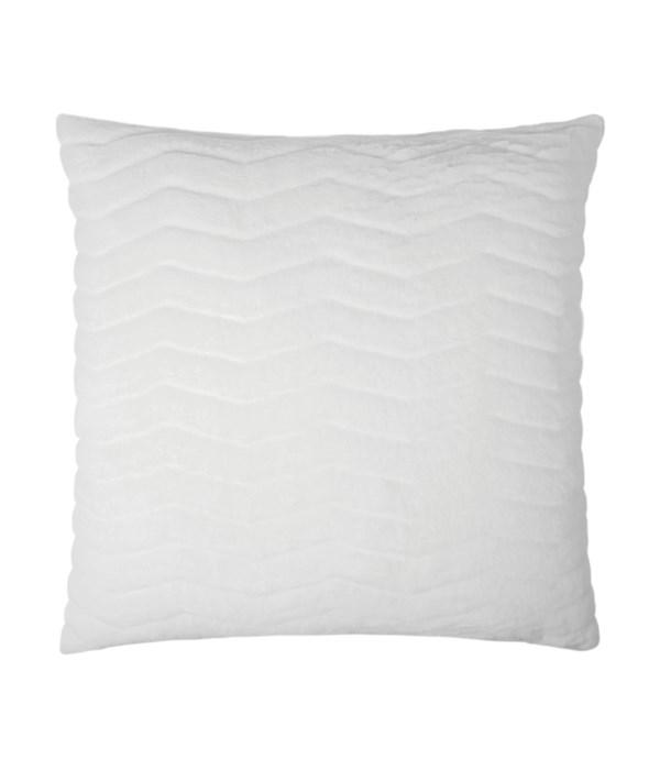 Lush Chevron Lumbar Snow Pillow