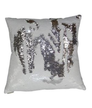 Hylee Square White-Silver Pillow