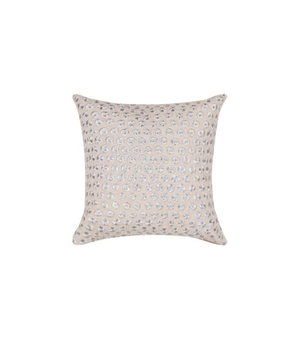 Yorkville Kate Spade Embroidered Dot Silver Pillow