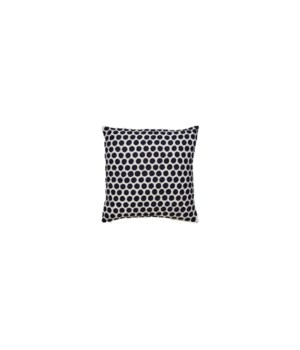 Yorkville Kate Spade Embroidered Dot Navy Pillow
