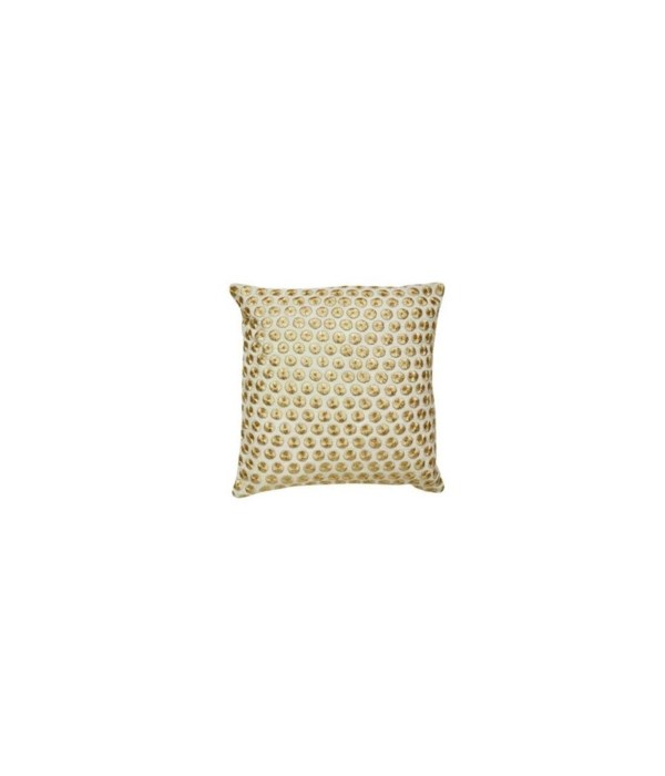 Yorkville Kate Spade Embroidered Dot Gold Pillow