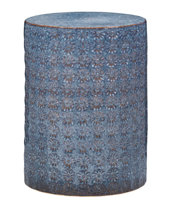 Wildflower Blue Side Table