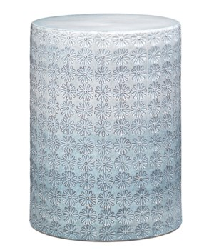 Wildflower White & Blue Side Table