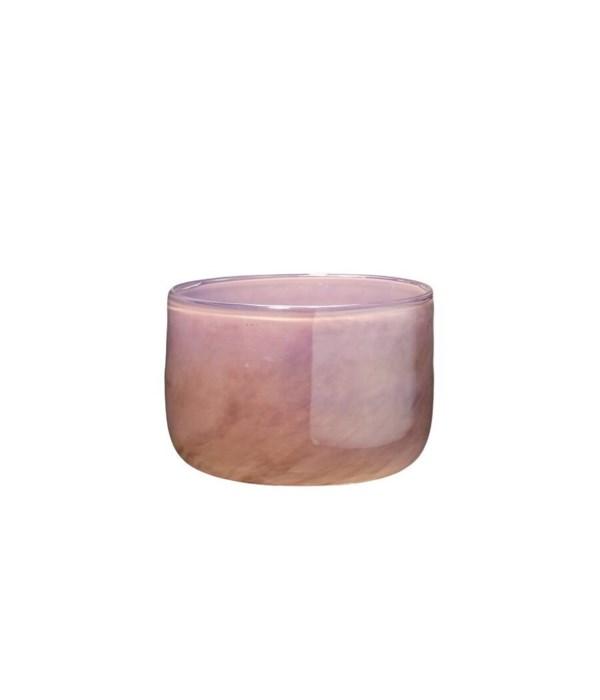 Small Vapor Vase Metallic Lavender