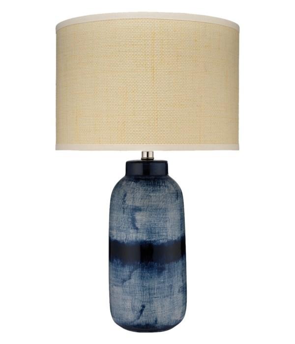 Large Batik Table Lamp, Indigo
