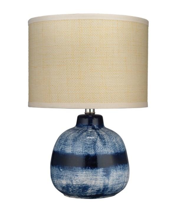 Small Batik Table Lamp, Indigo