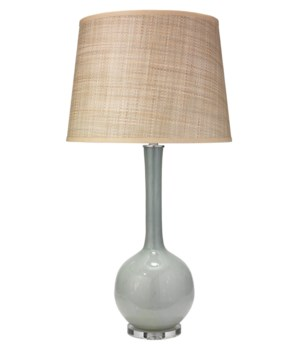 Florence Pale Blue Table Lamp, Lg Open Cone