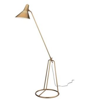 Franco Antique Brass Tri-Pod Floor Lamp