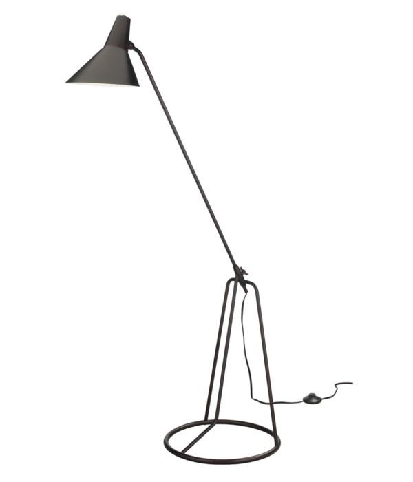 Franco Oil Bronze Tri-Pod Floor Lamp