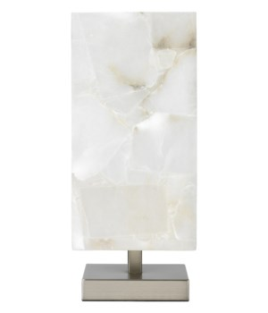 Ghost Axis Ant Silver Alabaster Table Lamp