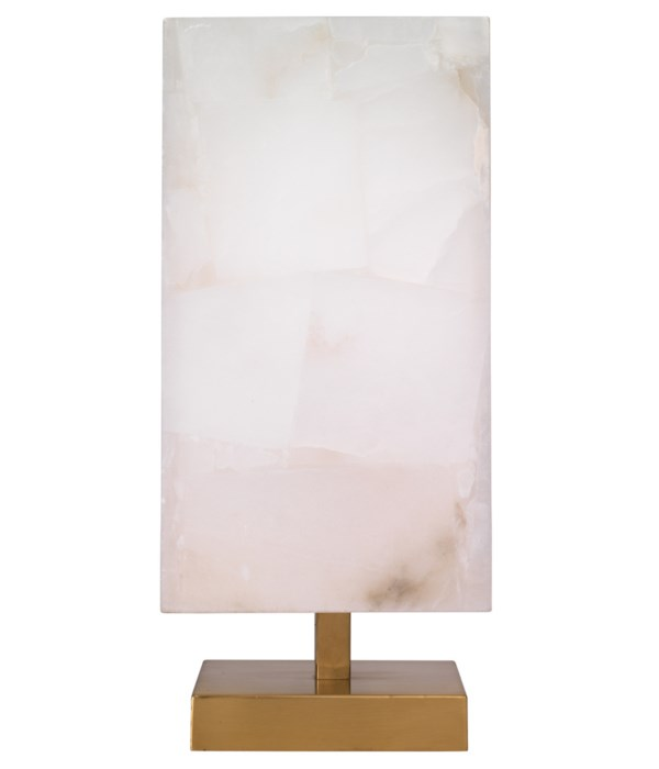 Ghost Axis Ant Brass Alabaster Table Lamp