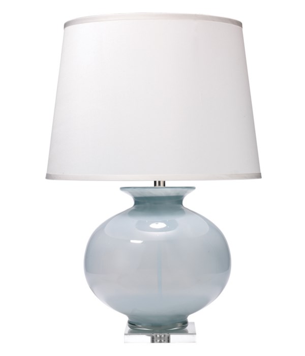 Heirloom Blue Table Lamp, Lg Open Cone