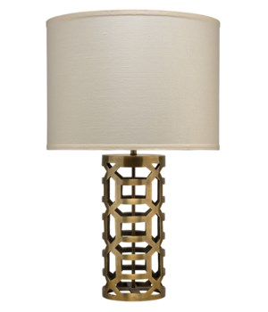 Labyrinth Brass Table Lamp