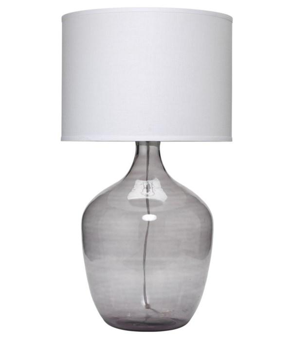 Extra Large Plum Jar Grey Table Lamp