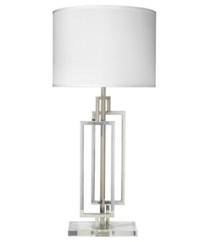 Romeo Nickel Table Lamp, Lg Open Drum