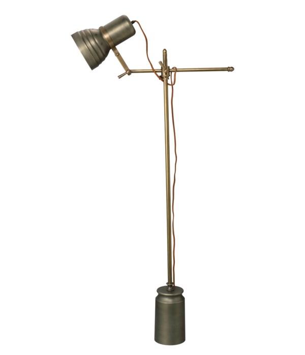 Singer Gun Metal Floor Lamp