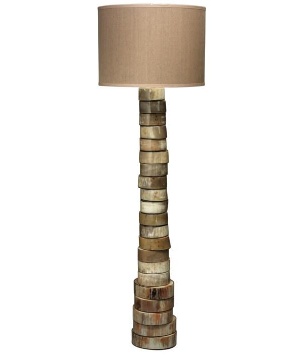 Stacked Horn Floor Lamp, Lg Drum