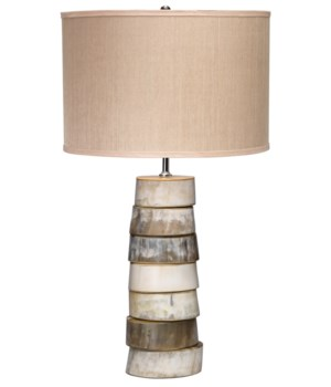 Stacked Horn Table Lamp, Med Drum