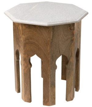 Atlas Table w White Marble Top