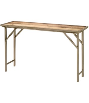 Campaign Folding Console Table