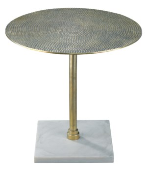 Nile Antique Brass Side Table