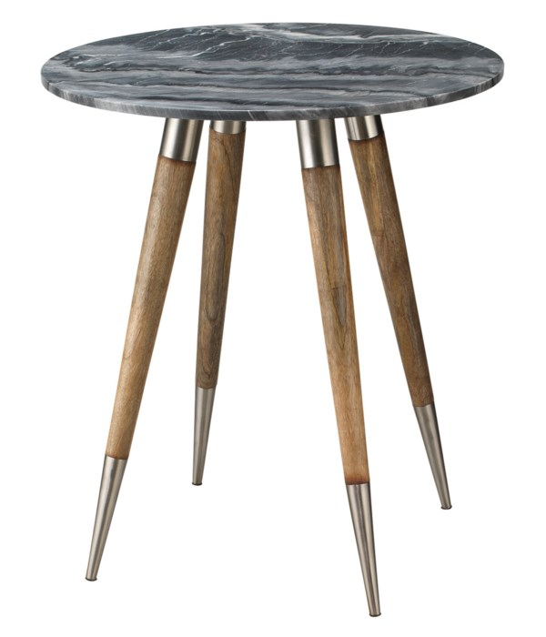 Large Owen Grey Marble Side Table