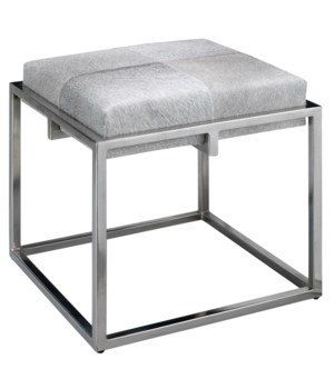 Shelby Grey Hide Stool