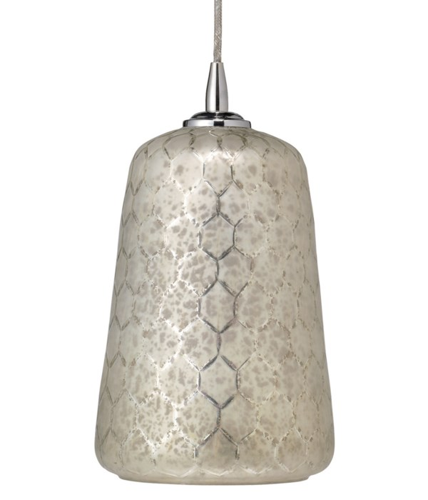 Bell Silver Glass Pendant