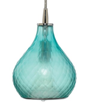 Sm Cloud Frosted Aqua Pendant