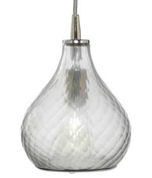 Sm Cloud Frosted Clear Pendant
