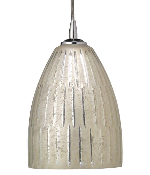 Dome Silver Glass Pendant