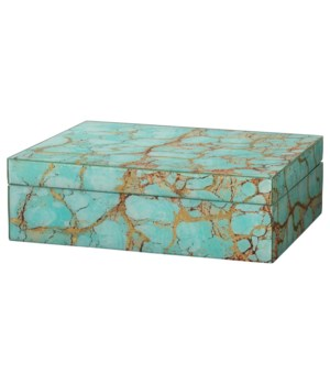 Turquoise Pebble Rectangle Box