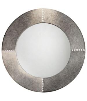 Round Cross Stitch Grey Mirror