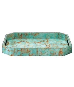 Large Octave Turquoise Pebble Tray