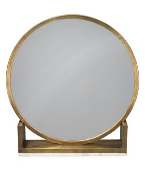 Odyssey Standing Antique Brass Mirror