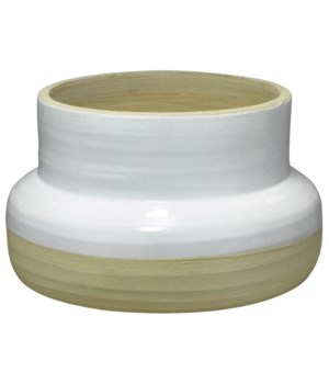 Sundial White and Natural Vase