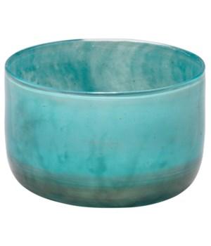 Small Vapor Vase Metallic Aqua