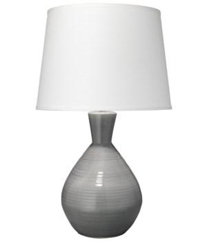 Ash Grey Table Lamp, Lg Cone