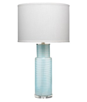 Atwater Blue Glass Table Lamp