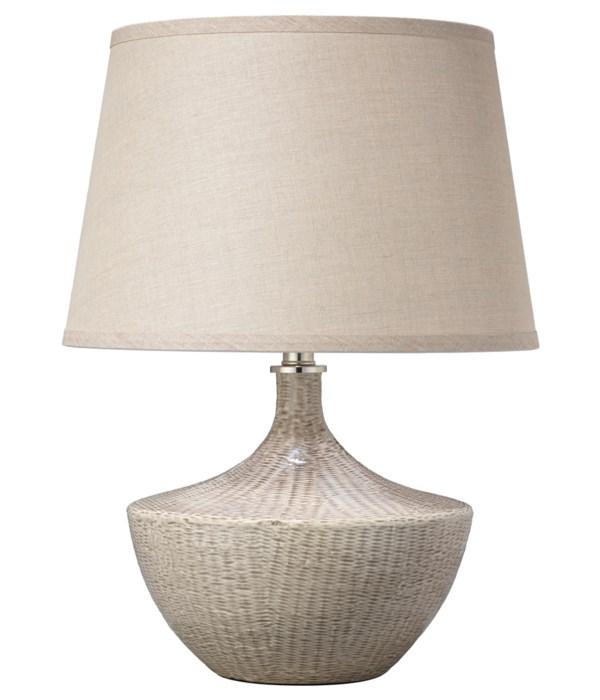 Basketweave Beige Table Lamp