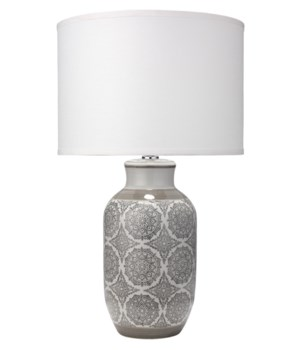 Beatrice Grey Table Lamp
