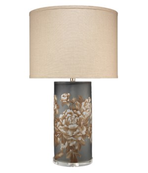 Blossom Grey Glass Table Lamp