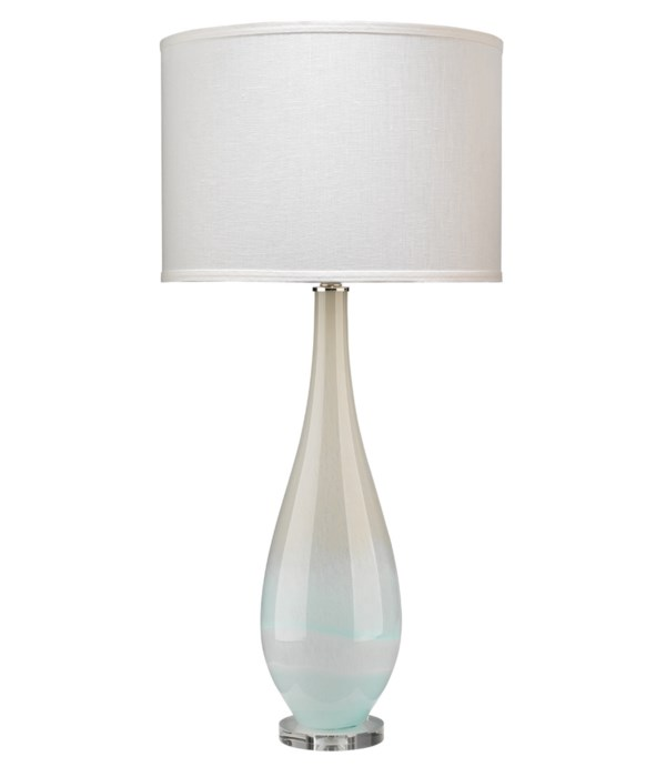 Dewdrop Blue Glass Table Lamp
